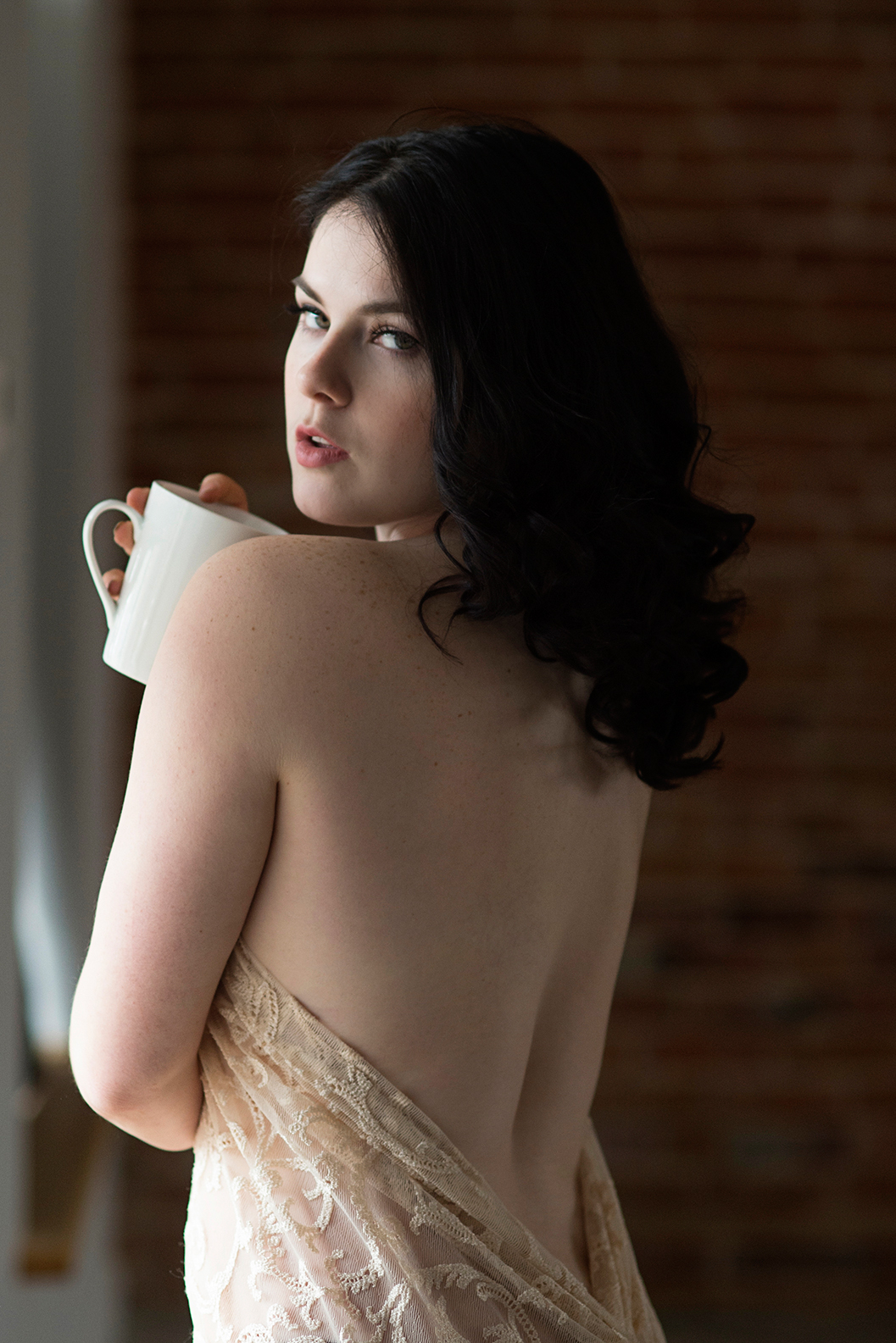 Morning coffee boudoir