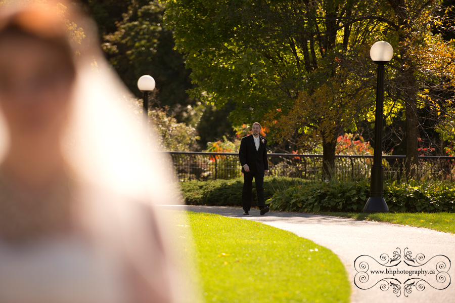 Groom approaches