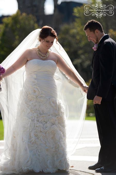 Bride spins for groom