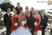 Bridal party pose for photo