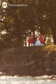 Creative bridal party portrait