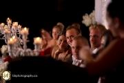 Romantic wedding reception