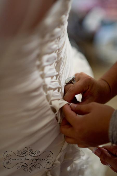 Wedding dress preparations