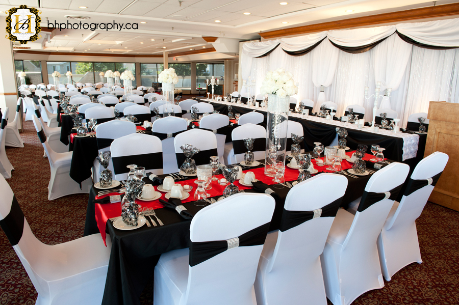 Reception room decorated