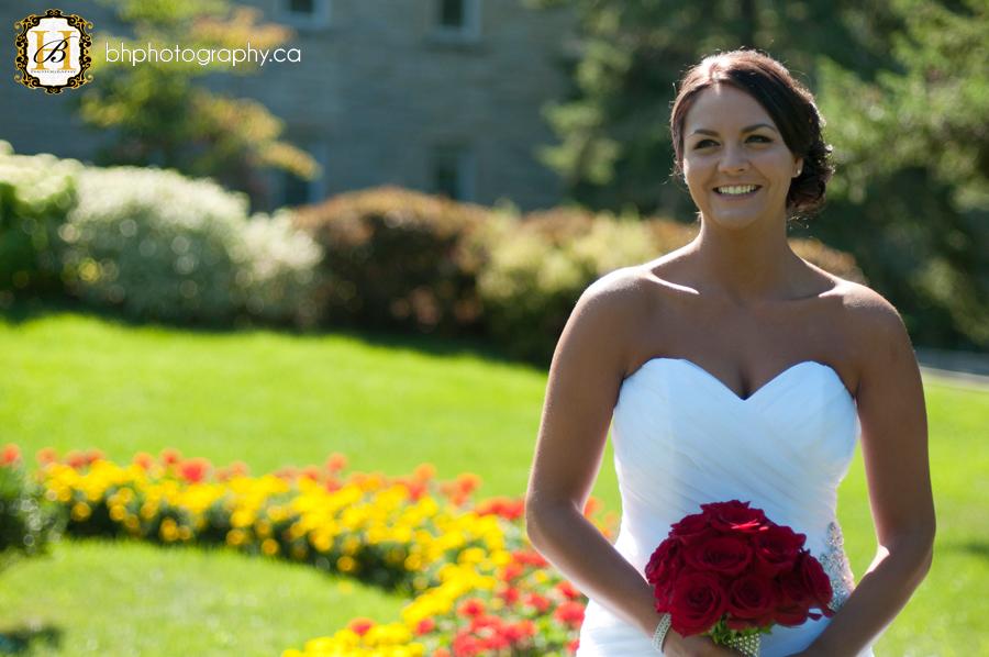 Bridal portrait with flowers