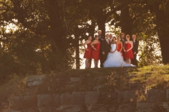 Creative bridal party portrait
