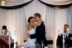 Kiss during reception
